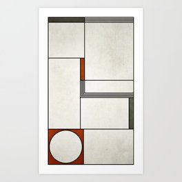 Modern Mondrian Art Print