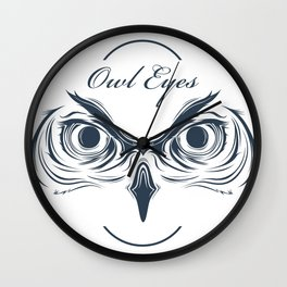owl eyes Wall Clock