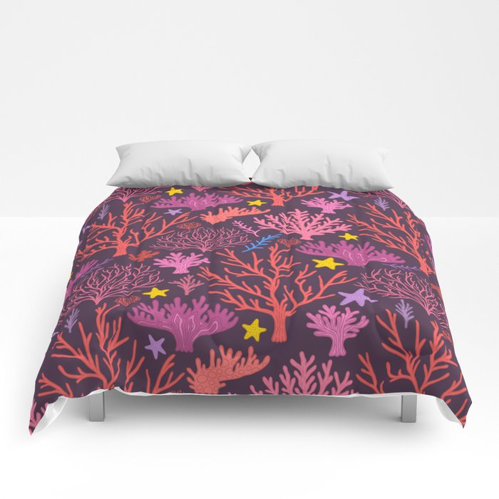 coral pattern Comforters