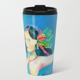 Blue Tibetan Poppy Goddess Travel Mug