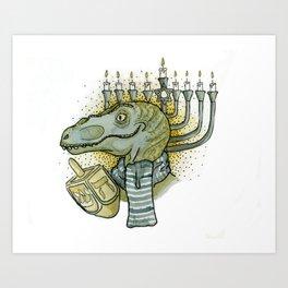 Hanukkah Dino Art Print