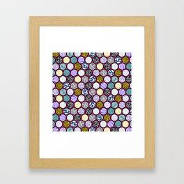 Filled Circles Framed Art Print