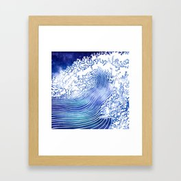 Pacific Waves II Framed Art Print