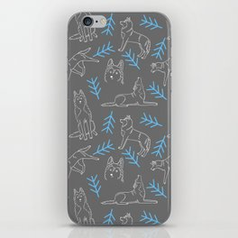 Siberian Husky Pattern iPhone Skin