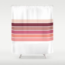 Stripes On White Shower Curtain