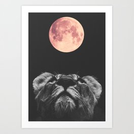 Moon Lion Art Print