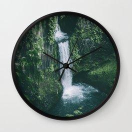 Toketee Falls II Wall Clock