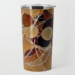 Autumn Bubbles Pattern Travel Mug