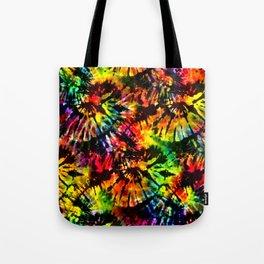 Vivid Psychedelic Hippy Tie Dye Tote Bag