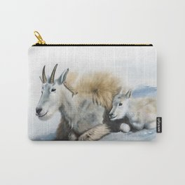 goat snow and cub Carry-All Pouch