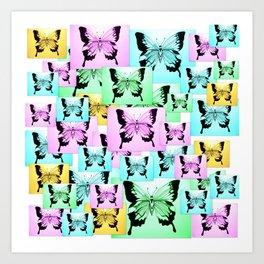 Care free butterflies Art Print