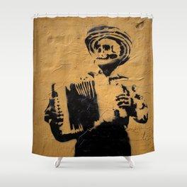 Accordionist Shower Curtain