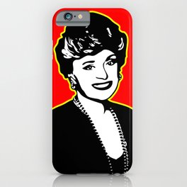 Rue McClanahan | Pop Art iPhone Case