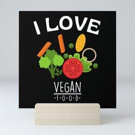 I Love Vegan Food Mini Art Print
