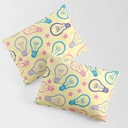 Cute Pastels Light bulb Pattern Pillow Sham