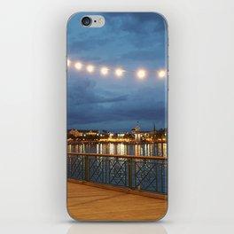 Boardwalk at Night in Florida - Photo by Jessica Hamilton iPhone Skin
