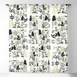 Watercolor of leaves Blackout Curtain