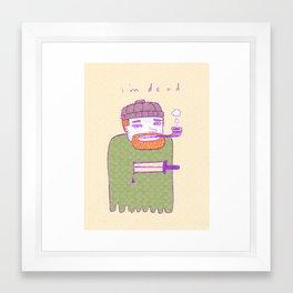 dead guy irl Framed Art Print