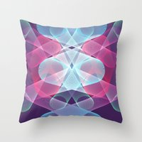 psychedelic art Throw Pillows featuring Psychedelic by Scar Design
