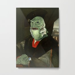 Creature from the Italian Renaissance: Giuliano De Medici meets Black Lagoon Metal Print