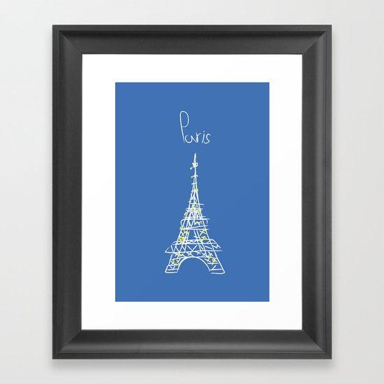 belle à Paris Framed Art Print