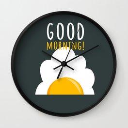 Good morning poster Wall Clock