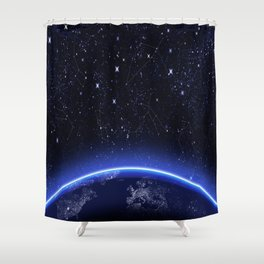 christmas XMAS NIGHT pattern Shower Curtain