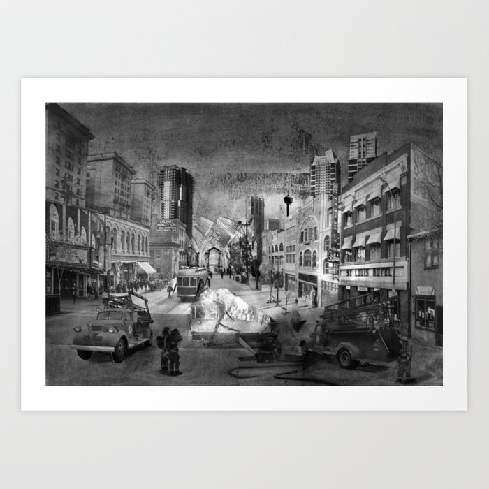 Stephen Avenue Walk Art Print