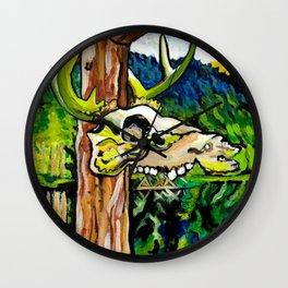 Lagoon Skull Wall Clock