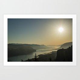 Sunrise Gorge Art Print