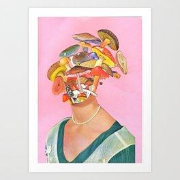 Mushroom Head Art Print