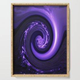 Spiral Vortex Purple G200 Serving Tray
