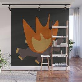 Night fire Wall Mural