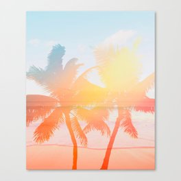 Tropicana seas - sundown Canvas Print