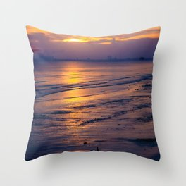 Sunset along the Gulf Coast Throw Pillow