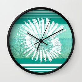 Nautilus Decor Mixed Media Piece Wall Clock
