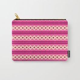 Pink & Cream Rows Carry-All Pouch