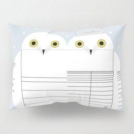 Snowy Owls Pillow Sham