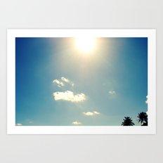 sunny sky Art Print