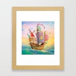 The Dreamship Gallivant Framed Art Print