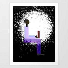 Reading by Window Light Art Print