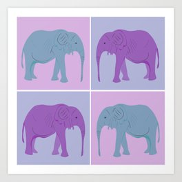 Elephant Pop Art  Art Print