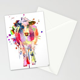 Colored Cow Stationery Cards