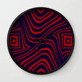 Zebra Grunge 5 Wall Clock