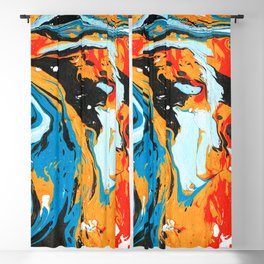 Abstract painting Blackout Curtain