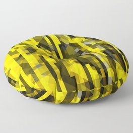 abstract composition in yellow and grays Floor Pillow