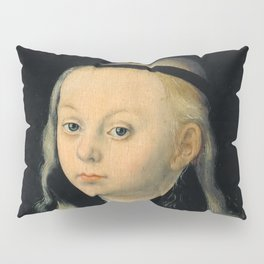 "Lucas Cranach the Elder ""Portrait of a young girl (presumably a portrait of Magdalena Luther)"" Pillow Sham"