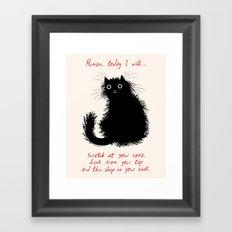 Human, today I will... Framed Art Print