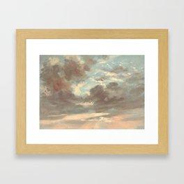 Cloud Study by John Constable 1821 Framed Art Print