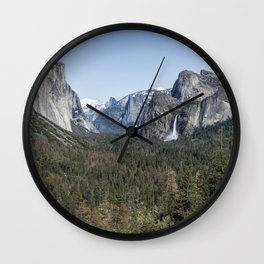 Tunnel View of Yosemite During Spring Wall Clock